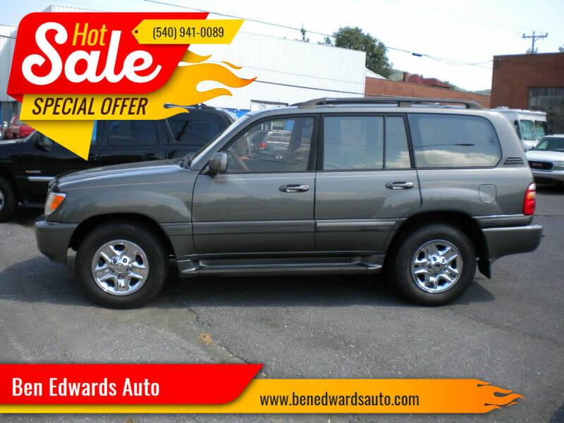 2000 Toyota Land Cruiser for sale at Ben Edwards Auto in Waynesboro VA