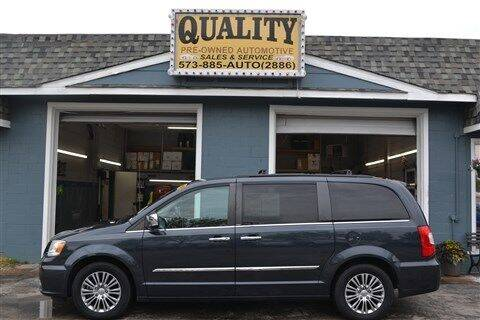2014 Chrysler Town and Country for sale at Quality Pre-Owned Automotive in Cuba MO
