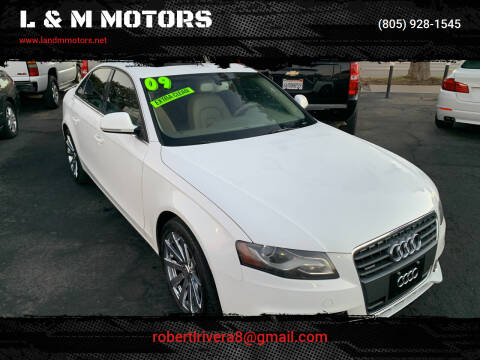 2009 Audi A4 for sale at L & M MOTORS in Santa Maria CA