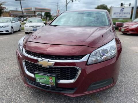 2015 Chevrolet Malibu for sale at Auto Union LLC in Virginia Beach VA