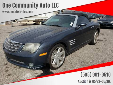 2006 Chrysler Crossfire for sale at One Community Auto LLC in Albuquerque NM