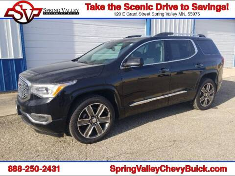 2017 GMC Acadia for sale at Spring Valley Chevrolet Buick in Spring Valley MN