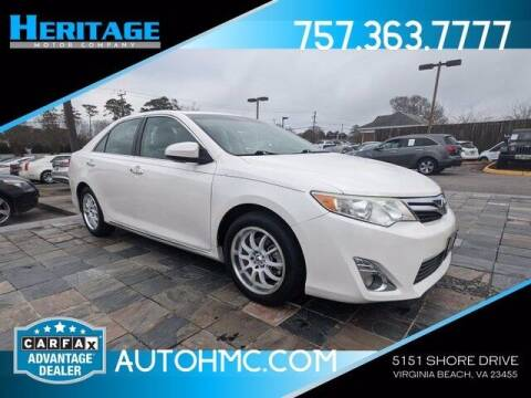 2012 Toyota Camry for sale at Heritage Motor Company in Virginia Beach VA