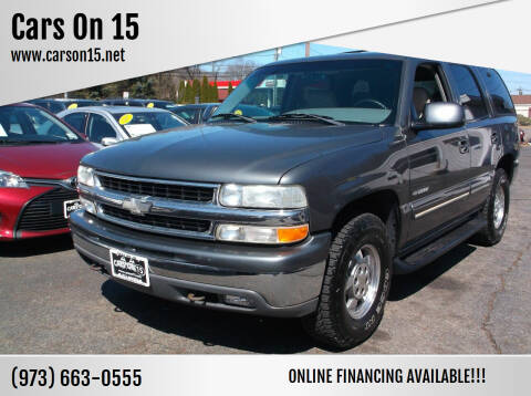 2000 Chevrolet Tahoe for sale at Cars On 15 in Lake Hopatcong NJ