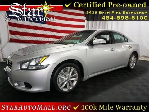 2012 Nissan Maxima for sale at STAR AUTO MALL 512 in Bethlehem PA