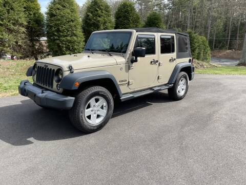 2017 Jeep Wrangler Unlimited for sale at DON'S AUTO SALES & SERVICE in Belchertown MA