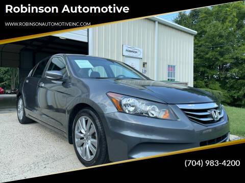 2012 Honda Accord for sale at Robinson Automotive in Albemarle NC
