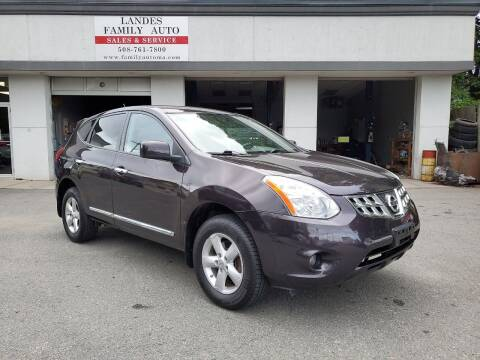 2013 Nissan Rogue for sale at Landes Family Auto Sales in Attleboro MA