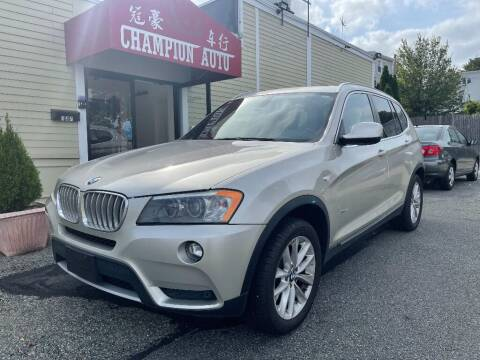 2012 BMW X3 for sale at Champion Auto LLC in Quincy MA