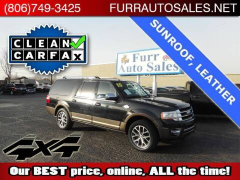 2015 Ford Expedition EL for sale at FURR AUTO SALES in Lubbock TX