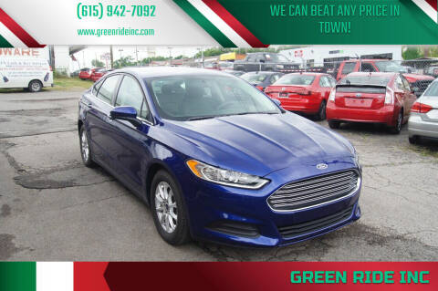 2016 Ford Fusion for sale at Green Ride Inc in Nashville TN