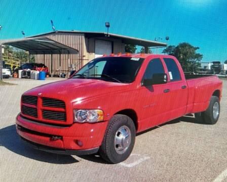2003 Dodge Ram Pickup 3500 for sale at L G AUTO SALES in Boynton Beach FL