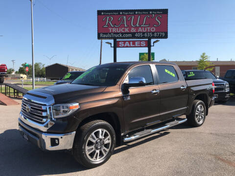2018 Toyota Tundra for sale at RAUL'S TRUCK & AUTO SALES, INC in Oklahoma City OK
