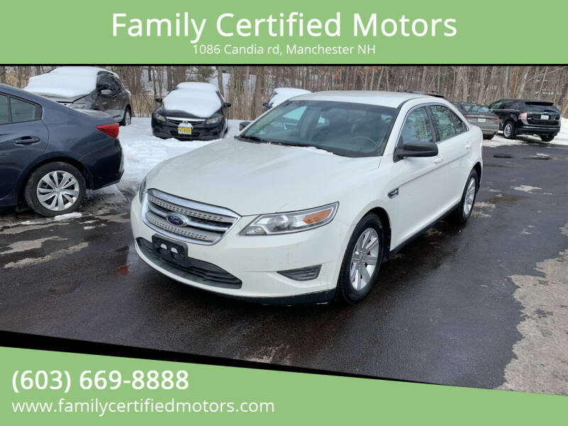2010 Ford Taurus for sale at Family Certified Motors in Manchester NH