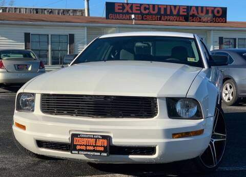 2008 Ford Mustang for sale at Executive Auto in Winchester VA