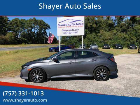 2017 Honda Civic for sale at Shayer Auto Sales in Cape Charles VA