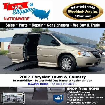 2007 Chrysler Town and Country for sale at Wheelchair Vans Inc - New and Used in Laguna Hills CA