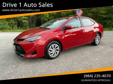 2018 Toyota Corolla for sale at Drive 1 Auto Sales in Wake Forest NC
