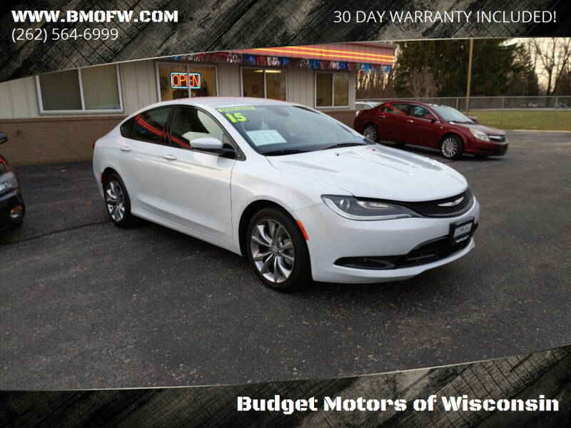 2015 Chrysler 200 for sale at Budget Motors of Wisconsin in Racine WI