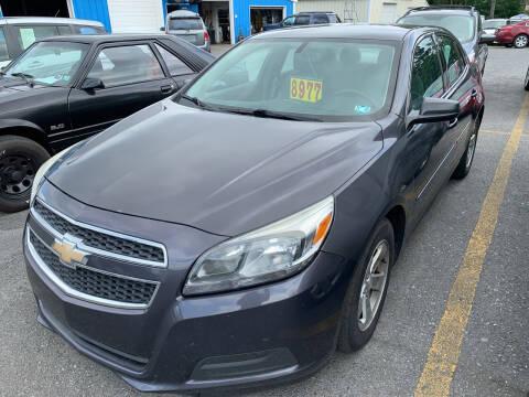 2013 Chevrolet Malibu for sale at BURNWORTH AUTO INC in Windber PA