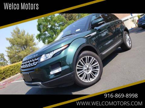 2012 Land Rover Range Rover Evoque for sale at Welco Motors in Rancho Cordova CA
