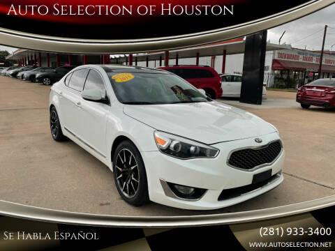 2015 Kia Cadenza for sale at Auto Selection of Houston in Houston TX