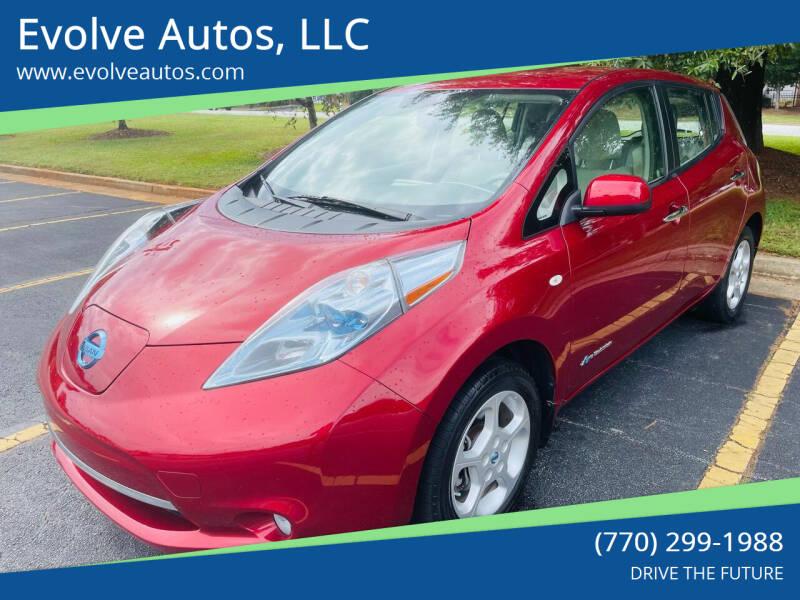2012 Nissan LEAF for sale at Evolve Autos, LLC in Lawrenceville GA