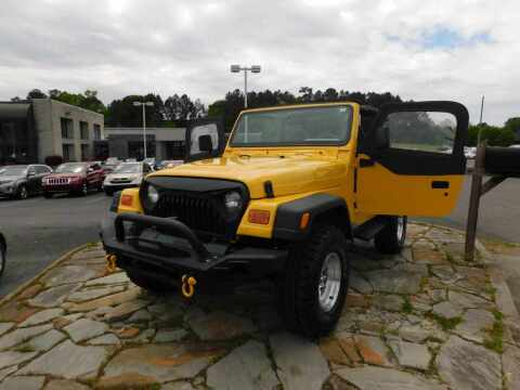 2000 Jeep Wrangler for sale at Paniagua Auto Mall in Dalton GA