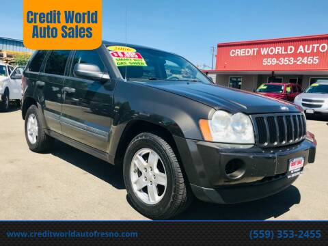 2006 Jeep Grand Cherokee for sale at Credit World Auto Sales in Fresno CA