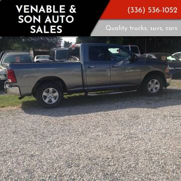 2011 RAM Ram Pickup 1500 for sale at Venable & Son Auto Sales in Walnut Cove NC