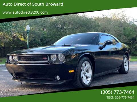2012 Dodge Challenger for sale at Auto Direct of South Broward in Miramar FL