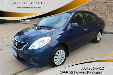 2012 Nissan Versa for sale at Direct One Auto in Houston TX