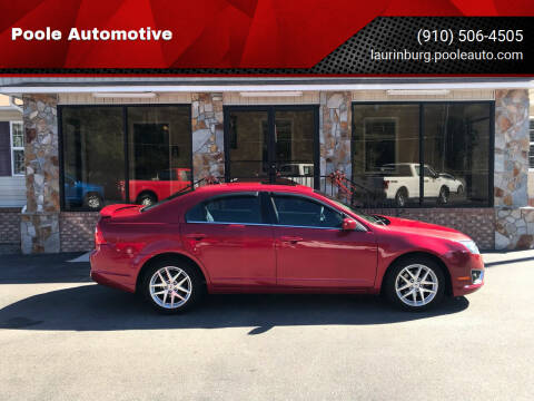 2012 Ford Fusion for sale at Poole Automotive in Laurinburg NC