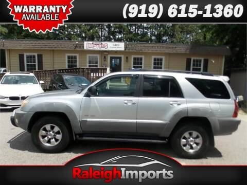 2003 Toyota 4Runner for sale at Raleigh Imports in Raleigh NC