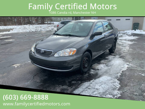 2008 Toyota Corolla for sale at Family Certified Motors in Manchester NH