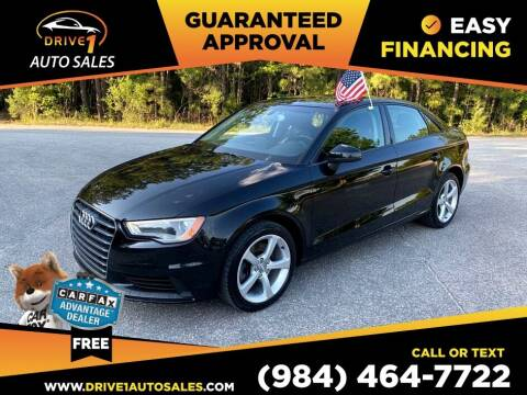 2015 Audi A3 Sedan 2.0T Premium for sale at Drive 1 Auto Sales in Wake Forest NC