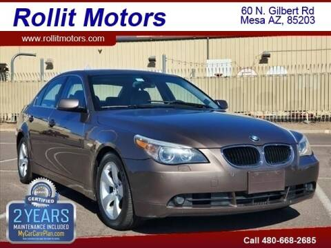 2004 BMW 5 Series for sale at Rollit Motors in Mesa AZ