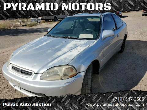 1996 Honda Civic for sale at PYRAMID MOTORS - Pueblo Lot in Pueblo CO