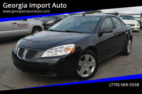 2009 Pontiac G6 for sale at Georgia Import Auto in Alpharetta GA