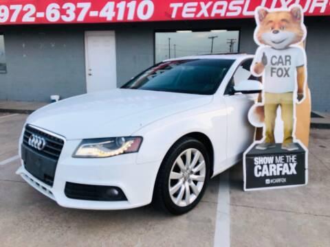 2011 Audi A4 for sale at Texas Luxury Auto in Cedar Hill TX