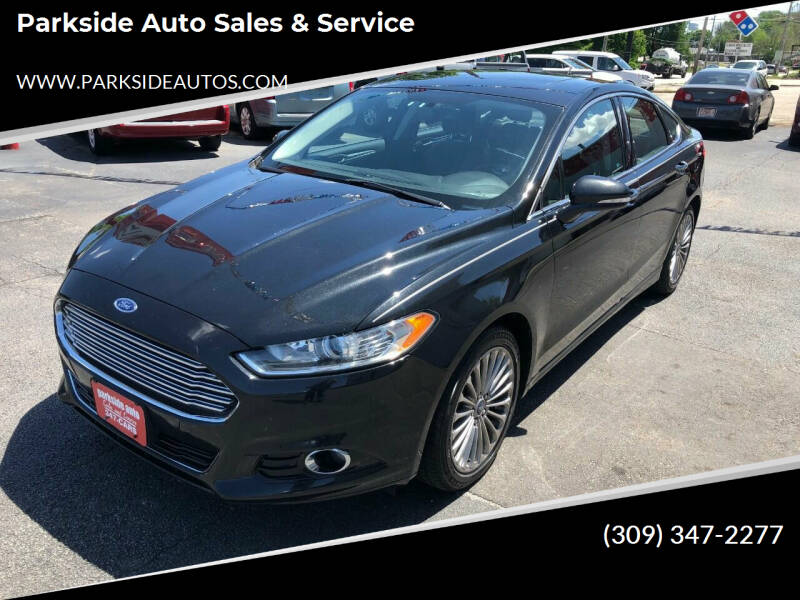 2014 Ford Fusion for sale at Parkside Auto Sales & Service in Pekin IL