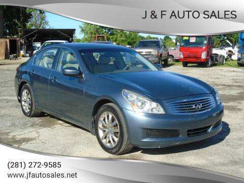 2009 Infiniti G37 Sedan for sale at J & F AUTO SALES in Houston TX