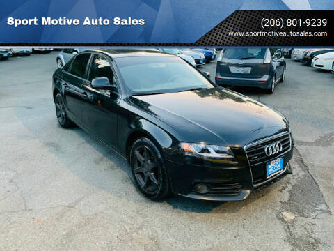 2009 Audi A4 for sale at Sport Motive Auto Sales in Seattle WA