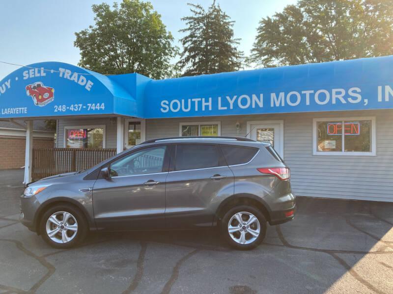 2014 Ford Escape for sale at South Lyon Motors INC in South Lyon MI