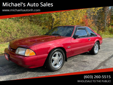 1993 Ford Mustang for sale at Michael's Auto Sales in Derry NH