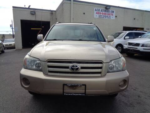 2005 Toyota Highlander for sale at ACH AutoHaus in Dallas TX