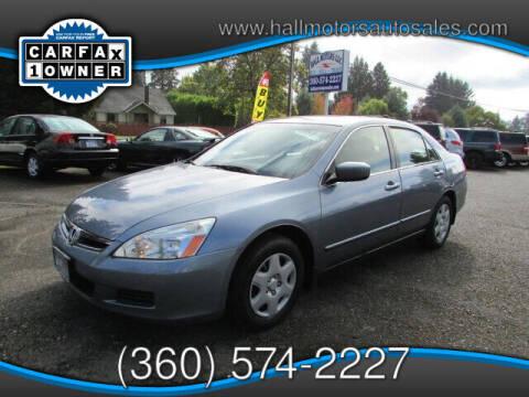 2007 Honda Accord for sale at Hall Motors LLC in Vancouver WA