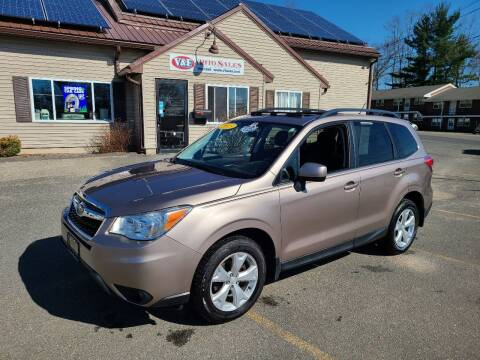 2015 Subaru Forester for sale at V & F Auto Sales in Agawam MA