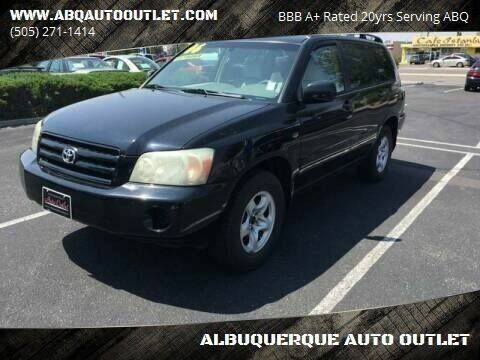 2006 Toyota Highlander for sale at ALBUQUERQUE AUTO OUTLET in Albuquerque NM