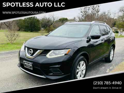 2016 Nissan Rogue for sale at SPOTLESS AUTO LLC in San Antonio TX